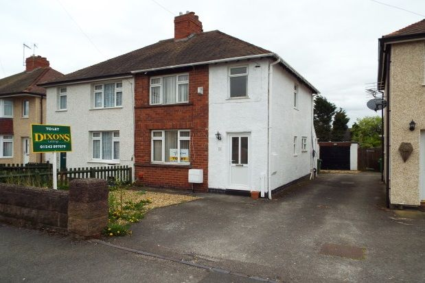 Thumbnail Semi-detached house to rent in Lilac Avenue, Cannock