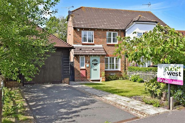 Thumbnail Semi-detached house for sale in Cricketers Close, Ashington, West Sussex