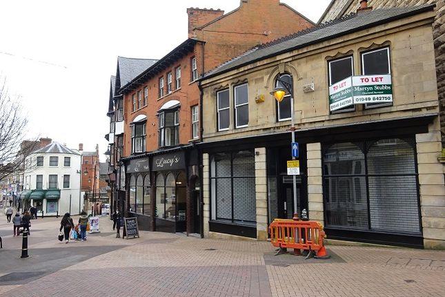 Thumbnail Retail premises to let in 19 Market Street, Nottinghamshire, Mansfield, Nottinghamshire