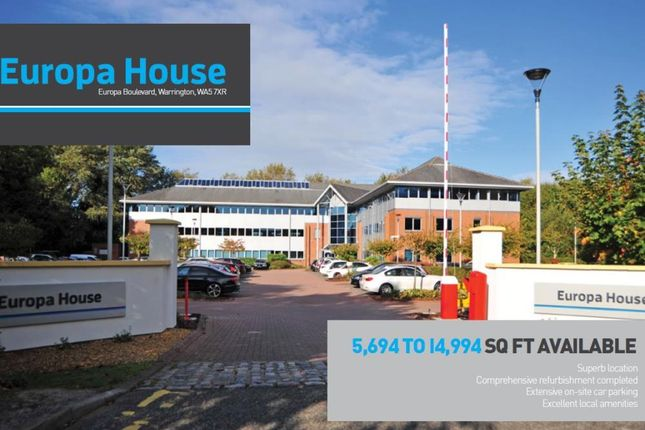 Office to let in Europa House, Europa Boulevard, Warrington, Chesire
