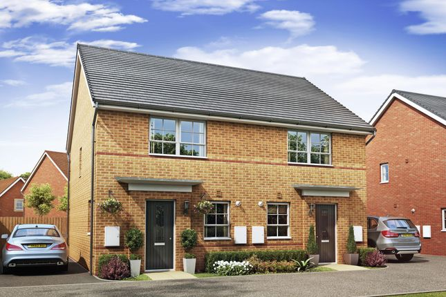 "Thumbnail Semi-detached house for sale in ""Barton"" at Lancaster Avenue, Watton, Thetford"