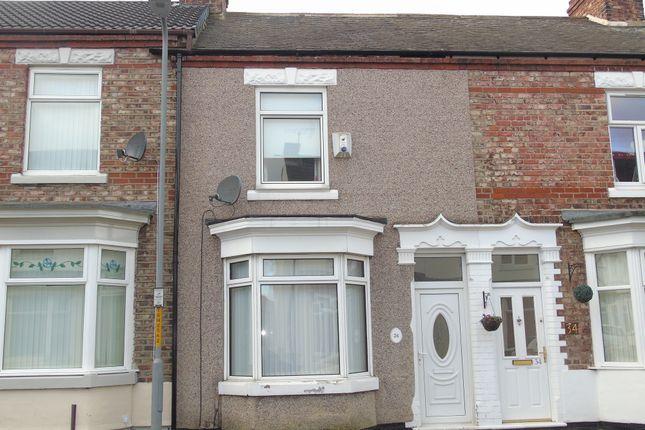 Thumbnail Terraced house to rent in Marlborough Road, Stockton-On-Tees