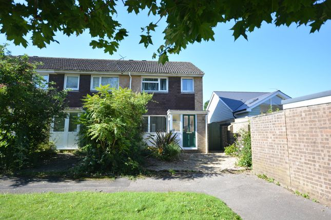 Thumbnail End terrace house for sale in Cockerell Close, Merley, Wimborne