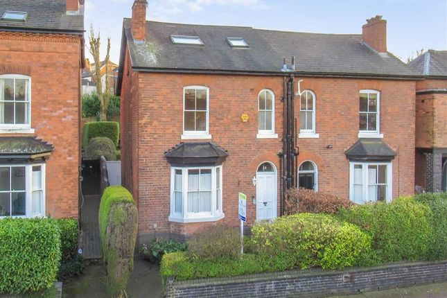 Thumbnail 4 bed semi-detached house for sale in Kingscote Road, Edgbaston, Birmingham