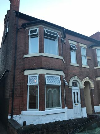 Thumbnail End terrace house to rent in Kimbolton Avenue, Lenton, Nottingham