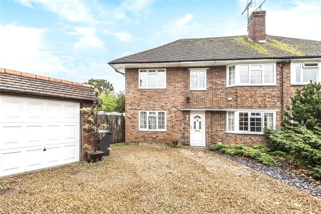 Thumbnail Semi-detached house for sale in Birchfield Close, Addlestone, Surrey