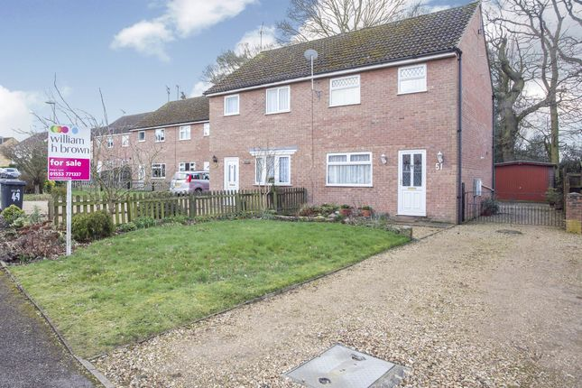 Thumbnail Semi-detached house for sale in Regency Avenue, King's Lynn