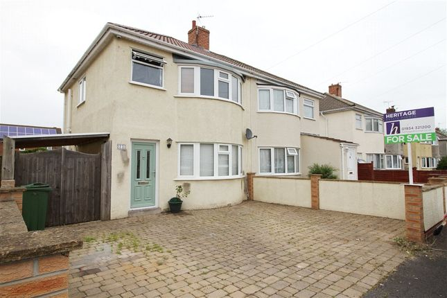 Thumbnail Semi-detached house for sale in Weston-Super-Mare, North Somerset