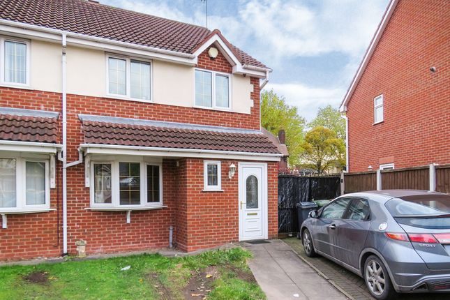 Thumbnail Semi-detached house for sale in Bloor Mill Close, Willenhall