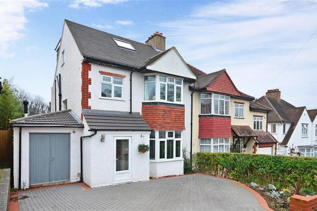 Thumbnail Semi-detached house for sale in Downside Road, Sutton, Surrey