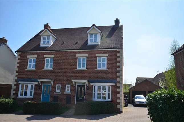 Thumbnail Semi-detached house to rent in Lyneham Drive, Quedgeley, Gloucester