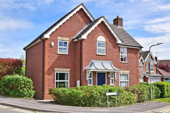 Thumbnail Detached house for sale in Snipe Close, Kennington, Ashford, Kent
