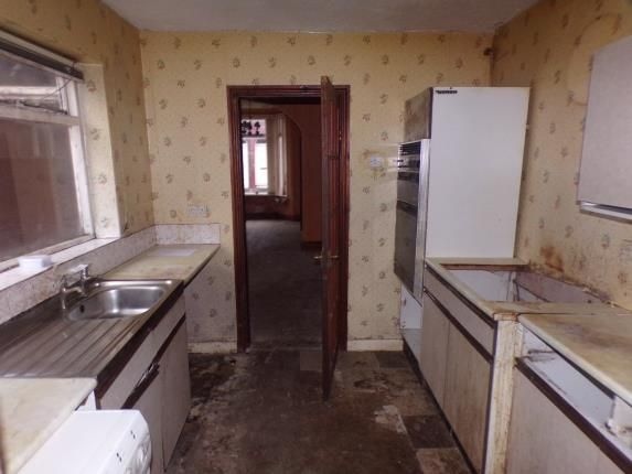 Kitchen of Rossett Street, Liverpool, Merseyside, England L6