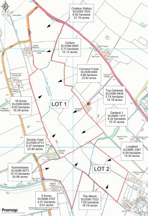 Thumbnail Land for sale in West Challow, Oxfordshire