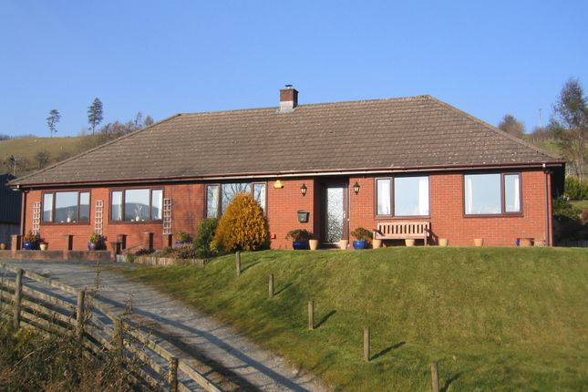 Thumbnail Detached bungalow for sale in Llanbadarn Fynydd, Llandrindod