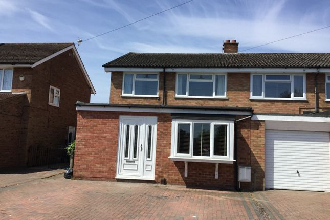 Thumbnail Semi-detached house for sale in Hitchin Road, Upper Caldecote