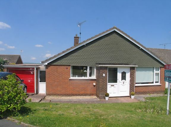 Thumbnail Detached bungalow to rent in Crowden Crescent, Tiverton