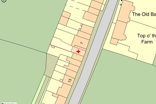 Plot Map of Top O'th Lane, Brindle, Chorley, Lancashire PR6