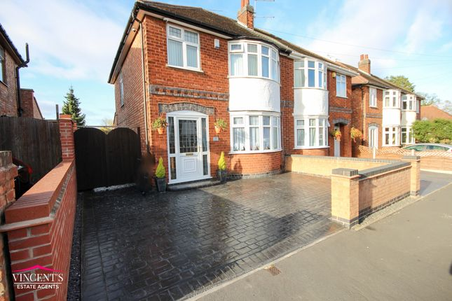 Thumbnail Semi-detached house for sale in Balmoral Drive, Leicester