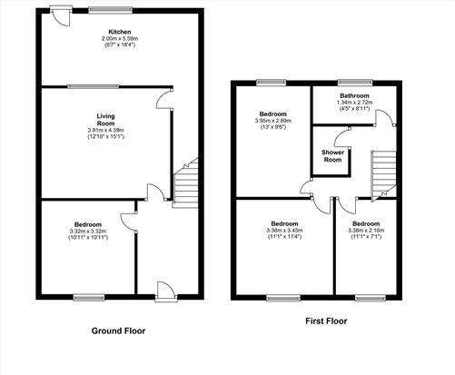 Floor Plan of Braddon Street, Preston PR1
