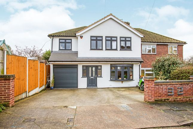 Thumbnail Semi-detached house for sale in Pettits Close, Romford