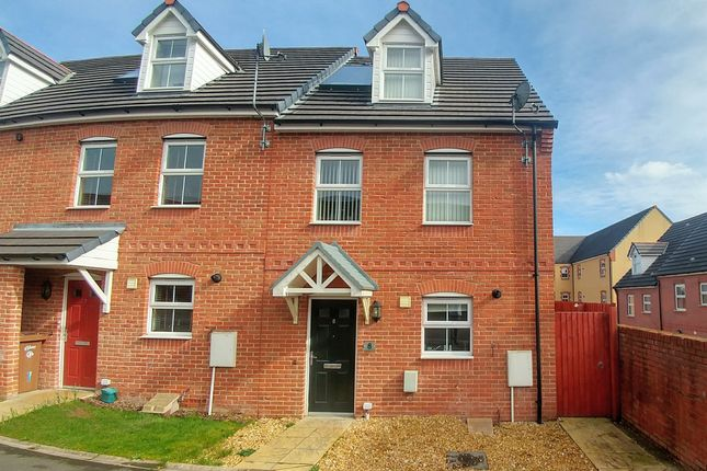 Thumbnail End terrace house for sale in Buttercups Close, Penallta, Hengoed