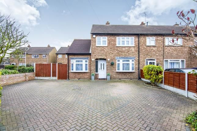 Thumbnail End terrace house for sale in Margaret Close, Heath Park, Romford