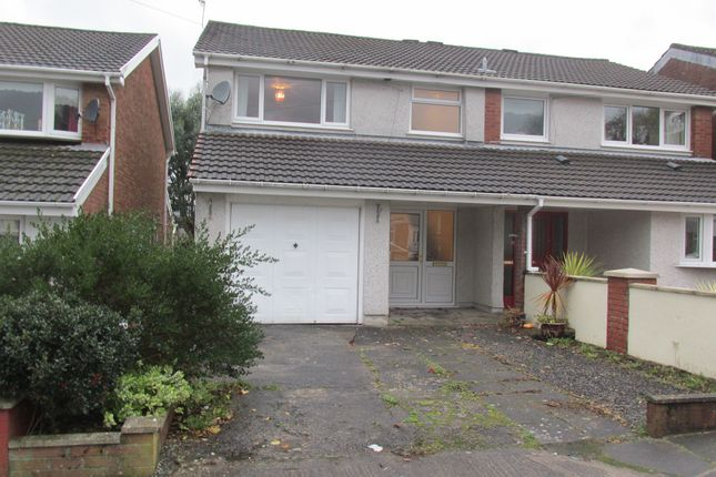 Thumbnail Semi-detached house for sale in Pinecroft Avenue, Cwmbach, Aberdare