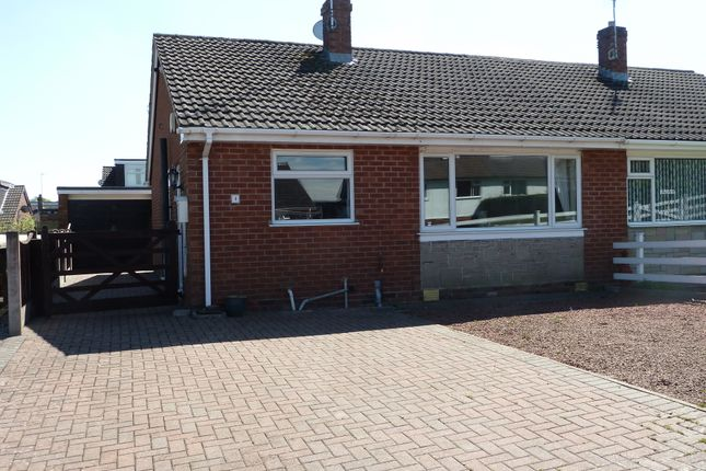 Thumbnail Semi-detached bungalow for sale in Apple Croft, Madeley, Crewe