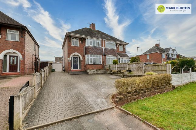 Thumbnail Semi-detached house for sale in Tittensor Road, Clayton, Newcastle Under Lyme