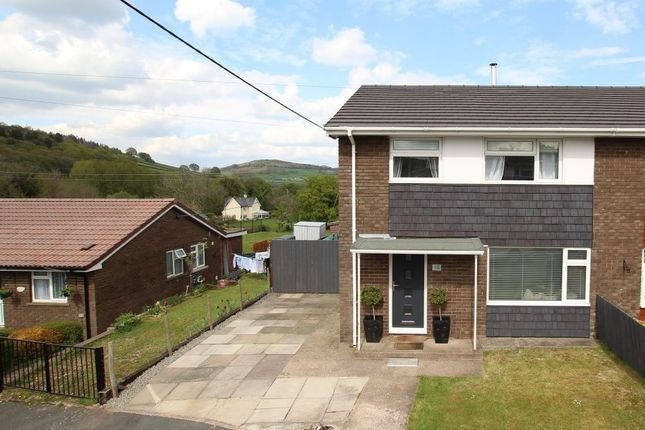 Thumbnail Semi-detached house for sale in Heol Sant Gattwg, Llanspyddid, Brecon