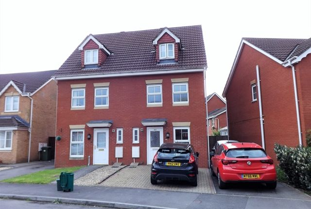 Thumbnail Town house for sale in Clos Springfield, Talbot Green, Pontyclun