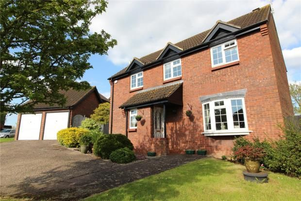 Thumbnail Detached house for sale in Julian Close, Haverhill, Suffolk
