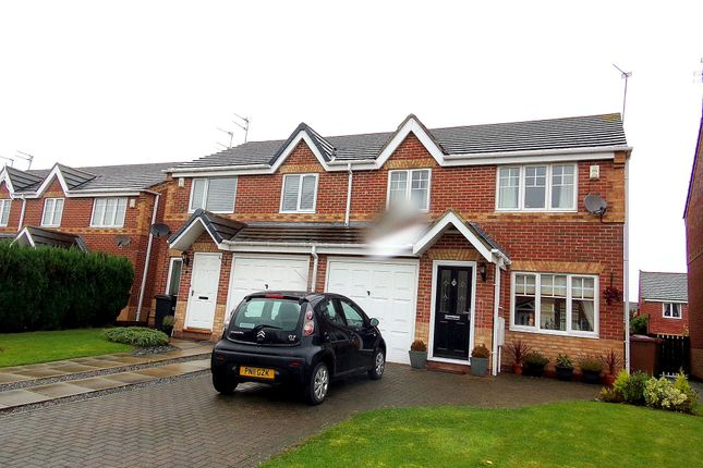 Thumbnail Semi-detached house for sale in Knaresborough Close, Bedlington