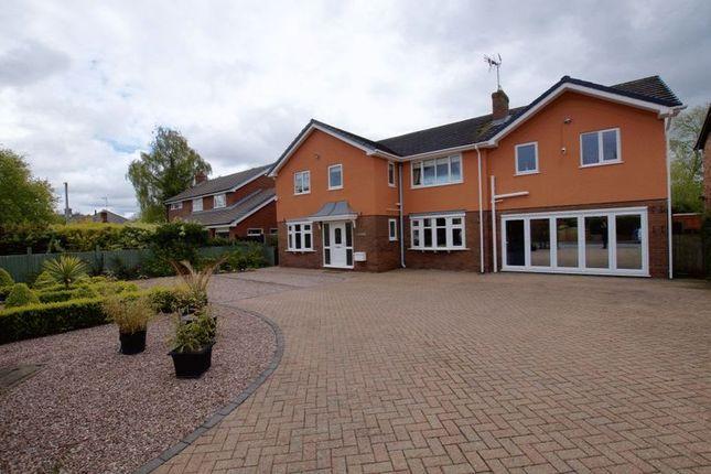 Thumbnail Detached house for sale in Station Road, Rossett, Wrexham