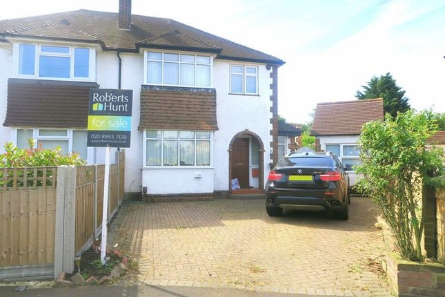 Thumbnail Semi-detached house for sale in Benedict Drive, Bedfont, Feltham