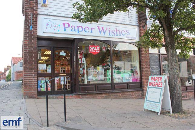 Thumbnail Retail premises for sale in Wymondham, Norfolk
