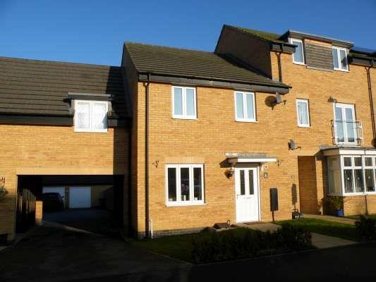 Thumbnail Terraced house to rent in Fletcher Way, Gunthorpe, Peterborough