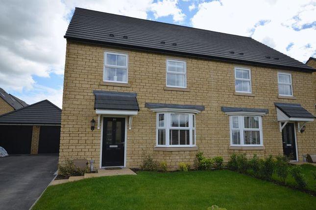 Thumbnail Semi-detached house for sale in Swinbrook Road, Carterton