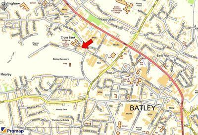 Location Plan of Convent, Former St Mary's School, 3 Upton Street, Batley WF17