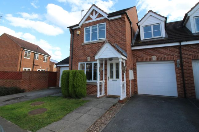 Thumbnail Semi-detached house for sale in Lakeside Park, Normanton