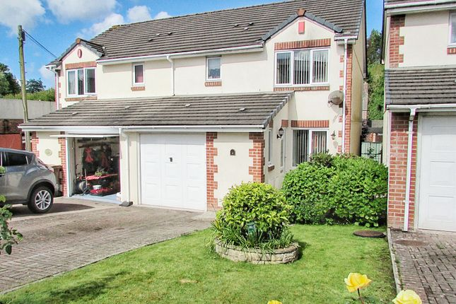 Thumbnail Semi-detached house for sale in Unicorn Close, Plympton, Plymouth