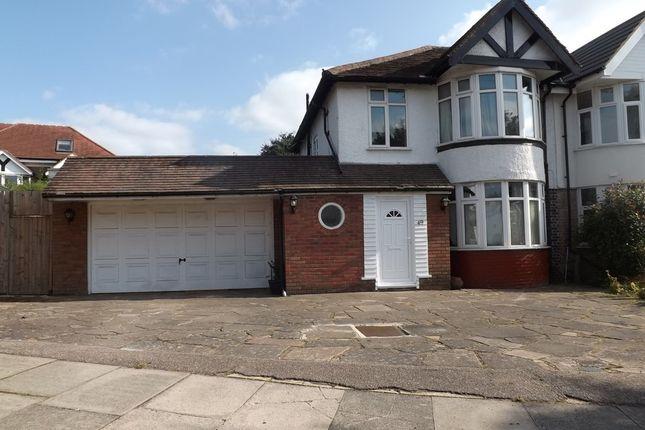 Thumbnail Semi-detached house to rent in Gibbs Green, Edgware