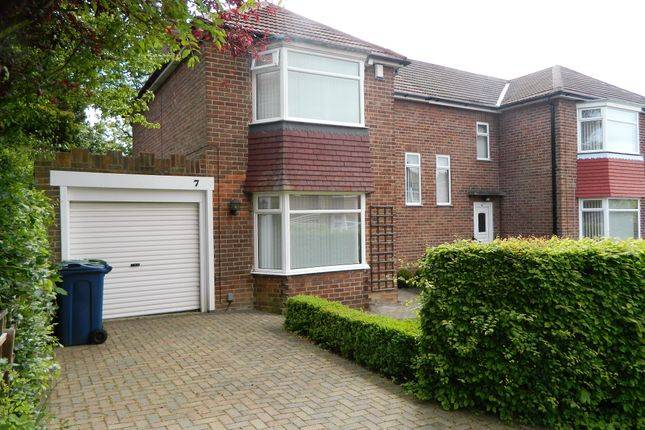 Thumbnail Semi-detached house for sale in Queens Drive, Whickham, Newcastle Upon Tyne