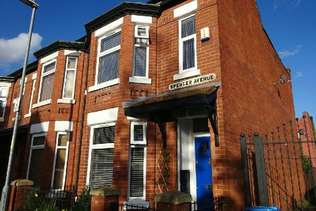 Thumbnail End terrace house for sale in Spencer Avenue, Whalley Range, Manchester