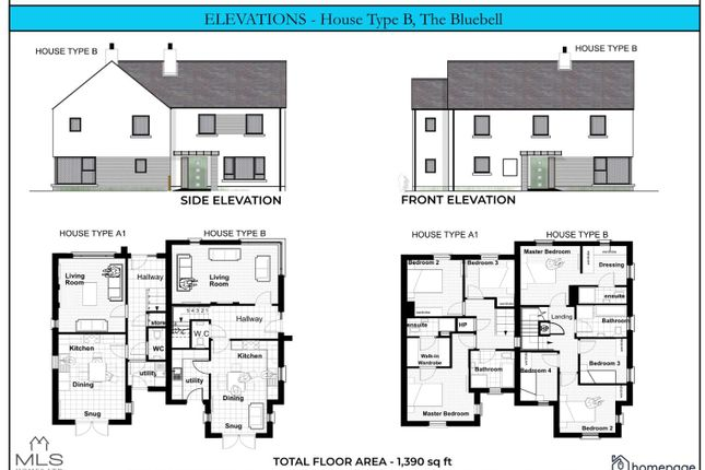 Thumbnail Semi-detached house for sale in The Bluebell, Type B, Carriage Court, Magilligan