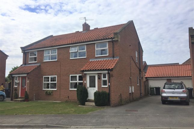Thumbnail 3 bed semi-detached house for sale in Chase Garth, Easingwold, York
