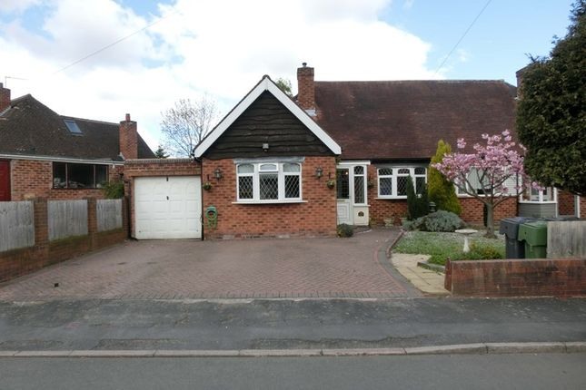 Thumbnail Semi-detached bungalow for sale in Meadow Road, Wythall, Birmingham
