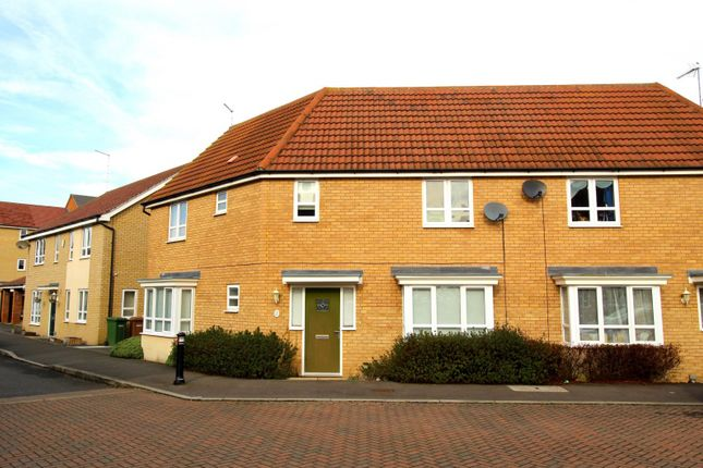 Thumbnail Semi-detached house to rent in Mid Water Crescent, Peterborough