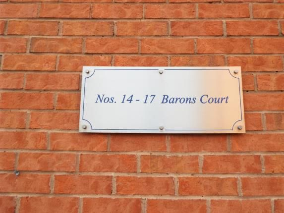 Court Sign of Barons Court, Barons Close, Leicester, Leicestershire LE9